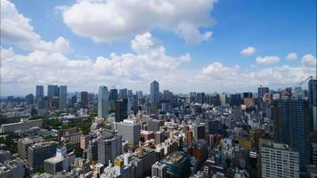 Beautiful architecture building in Tokyo city Japan video