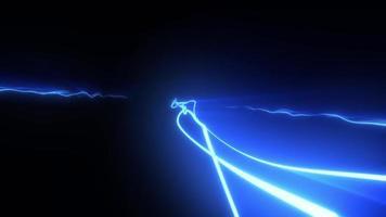 arcos elétricos e curso de luz em movimento extremo video