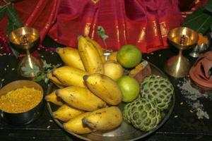 ofrenda de frutas foto