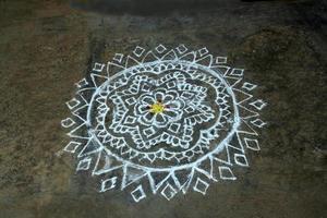 Kerala, India, 2021 - Rangoli folk artwork photo