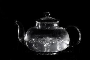 Boiling hot water tea arrangement photo