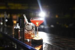 Cocktails shaker arrangement night club photo
