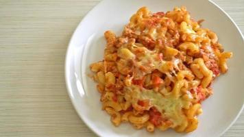 hornea casera macarrones a la boloñesa con queso o macarrones con queso video