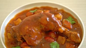 homemade chicken stew with tomatoes video