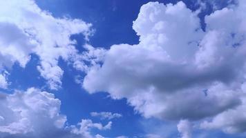 fundo da natureza do lapso de tempo da nuvem. video