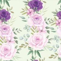 Elegant floral seamless pattern with beautiful flower decoration vector