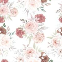 Beautiful soft floral seamless pattern vector