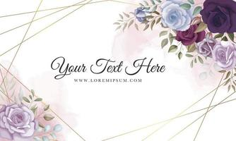 Elegant floral background with beautiful flowers ornament vector