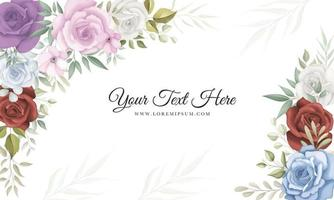 Elegant floral background with beautiful flowers vector