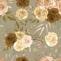Beautiful autumn flower seamless pattern vector