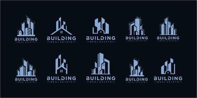 Real Estate Logo Set . Creative House Logo Collection vector