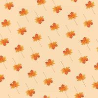 patrón creativo de otoño con hoja de arce foto
