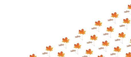 banner de hoja de arce otoñal de patrón foto
