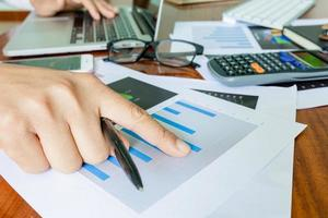 Business accounting plan concept photo