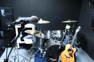 micrófono de condensador profesional para estudio foto