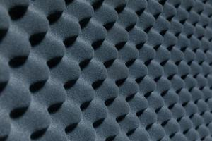 Close up of sound proof coverage in music studio photo