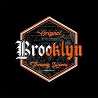 brooklyn original training division simple vintage vector