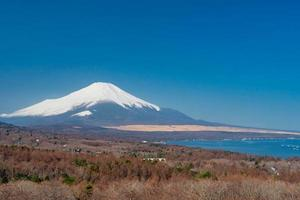 View of Mount Fuji from Mikuni Pass in Japan photo