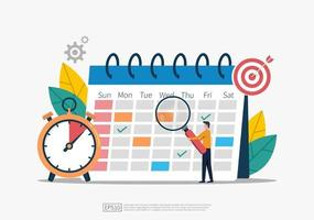 Schedule and planning concept event and task force illustration vector