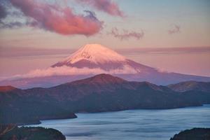 View of Mount Fuji from Yamanakako panoramic viewing platform photo