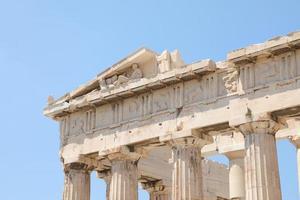 Parthenon Temple on the Acropolis of Athens, Greece photo