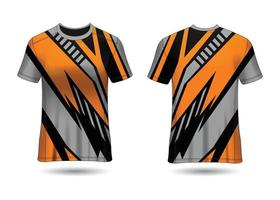 T-Shirt Sport Design. Racing jersey. uniform front and back view. vector