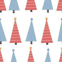 Seamless Christmas pattern with tree Christmas ornament vector
