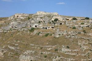 Palaeolithic Caves at Matera Italy photo
