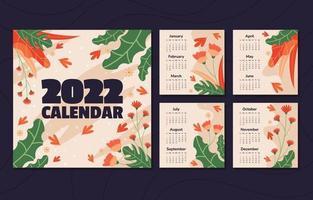 Nature Calendar 2022 Template vector