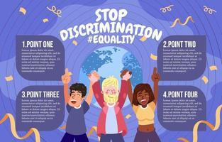 infografía de detener la discriminación vector