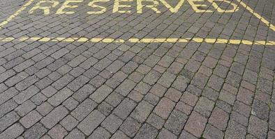 Reserved parking sign photo