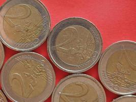 Moneda de 2 euros, unión europea foto