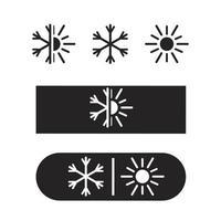 Air conditioning icon vector