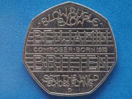 50 pence coin, United Kingdom photo