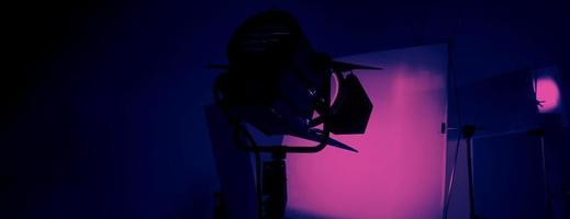 producción de video detrás de escena, interior de un estudio de video foto