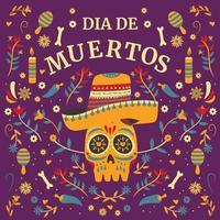 Dia De Los Muertos Festival Background Concept vector