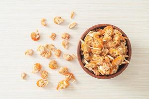Dried shrimps or dried salted prawn photo