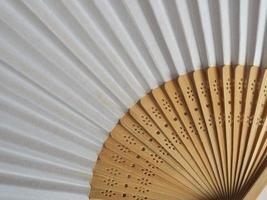 abanico tradicional japonés o chino foto