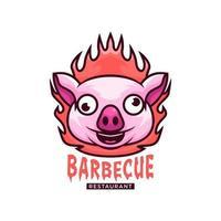 BBQ pork logo vector
