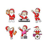 Character christmas with music concept design vector