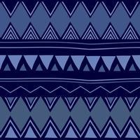 Ikat geometric folklore ornament ethnic Seamless striped pattern vector