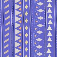 Seamless striped pattern in Aztec style. Stripes hand drawn vector