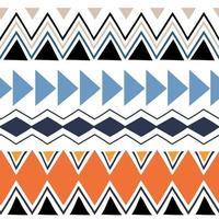 Ikat geometric folklore ornament. Tribal ethnic vector texture pattern