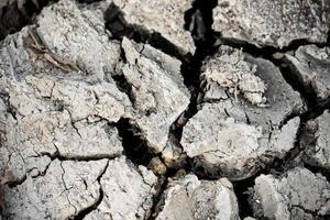 Fondo de la superficie del suelo de sequía agrietada. concepto de desastre. foto