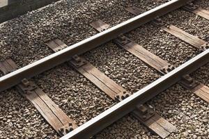 Railway or railroad block track structure, Train railway iron photo