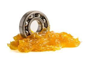 rodamiento de bolas de acero inoxidable con grasa de litio maquinaria foto