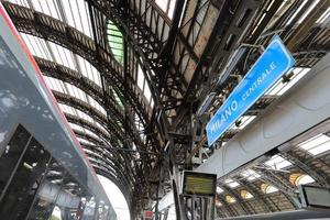 High Speed Trains at the Railway Milan Central Station photo