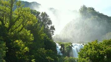 cascade of marmore in summer in umbria video