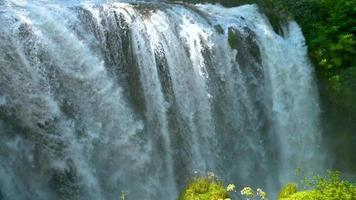 slow motion of the marmore waterfall video
