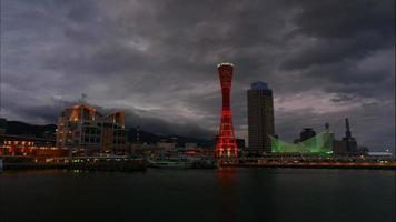 hermoso edificio de arquitectura en la ciudad de kobe, japón video